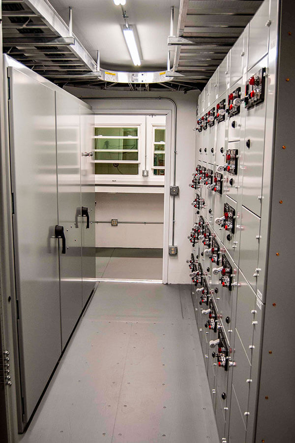 Shared Door with Motor Controls in a Double Wide Conex EHouse